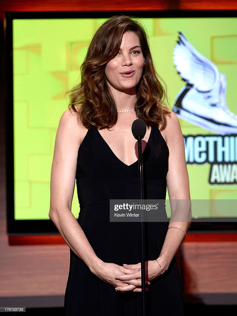 Actress <a gi-track='captionPersonalityLinkClicked' href=/galleries/search?phrase=Michelle+Monaghan&family=editorial&specificpeople=213746 ng-click='$event.stopPropagation()'>Michelle Monaghan</a> speaks onstage at the DoSomething.org and VH1's 2013 Do Something Awards at Avalon on July 31, 2013 in Hollywood, California.