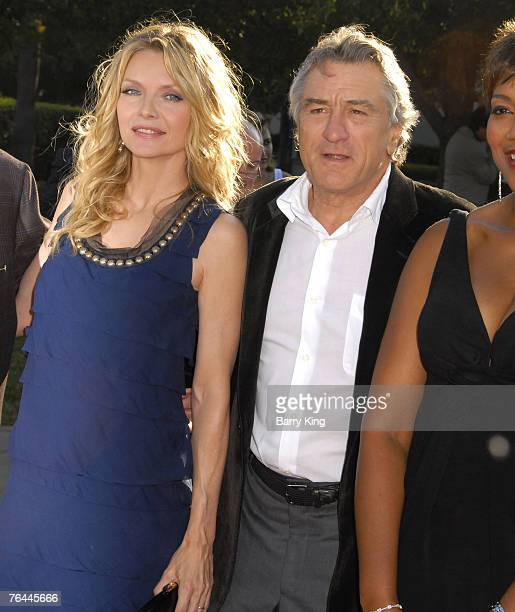 Actress Michelle Pfeiffer and actor Robert De Niro at the 'Stardust' Los Angeles Premiere at the Paramount Studio Theatre on July 29 2007 in Los...