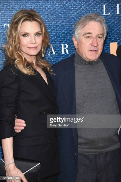 Actress Michelle Pfeiffer and actor/executive producer Robert De Niro attend 'The Wizard Of Lies' New York premiere at The Museum of Modern Art on...