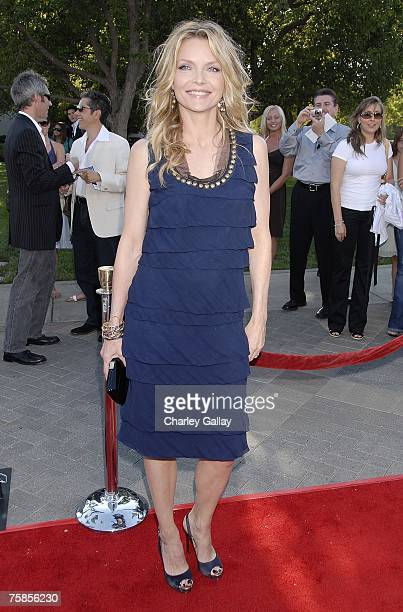 Actress Michelle Pfeiffer arrives at the premiere of Paramount Pictures' 'Stardust' at the Paramount Studio Theater July 29 2007 in Los Angeles...