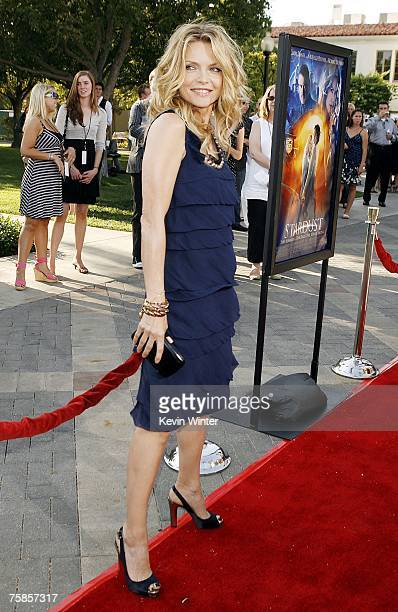 Actress Michelle Pfeiffer arrives at the premiere of Paramount Picture's 'Stardust' at the Paramount Studio Theater on July 29 2007 in Los Angeles...