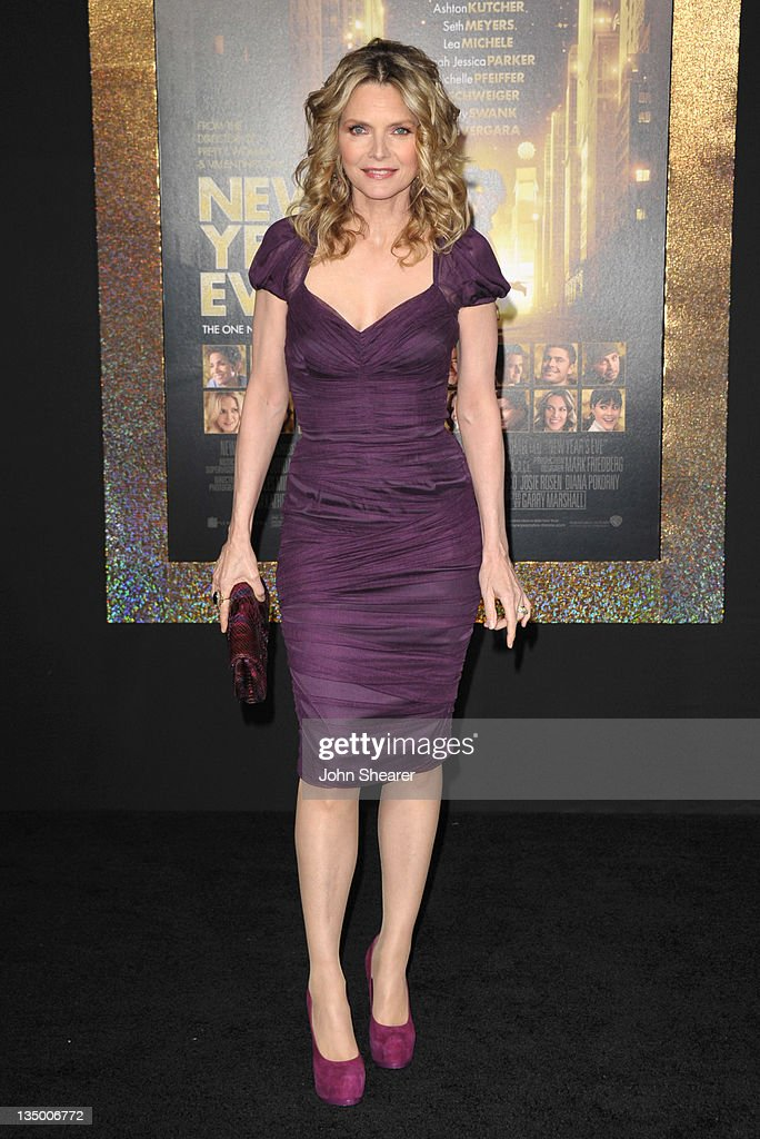Actress Michelle Pfeiffer arrives to the Premiere Of Warner Bros. Pictures' 'New Year's Eve' at Grauman's Chinese Theatre on December 5, 2011 in Hollywood, California.