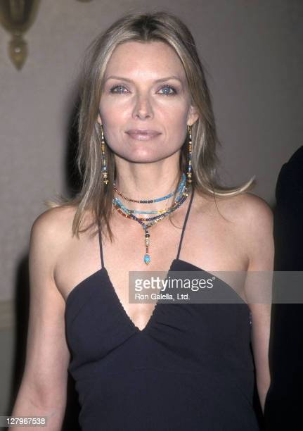 Actress Michelle Pfeiffer attends the 12th Annual Producers Guild of America Awards on March 3 2001 at the Century Plaza Hotel in Los Angeles...