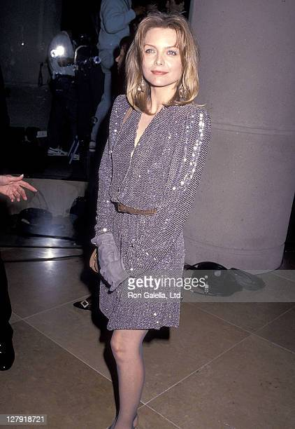 Actress Michelle Pfeiffer attends the 48th Annual Golden Globe Awards on January 19 1991 at Beverly Hilton Hotel in Beverly Hills California