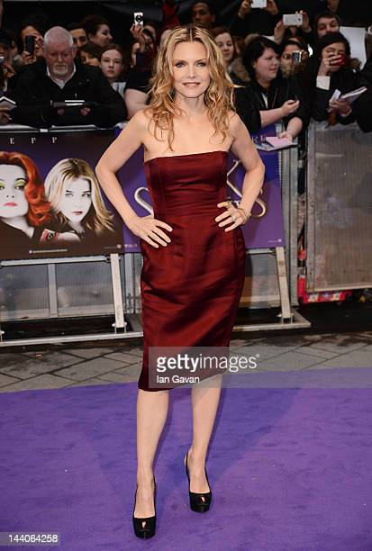 Actress Michelle Pfeiffer attends the European premiere of 'Dark Shadows' at Empire Leicester Square on May 9 2012 in London England