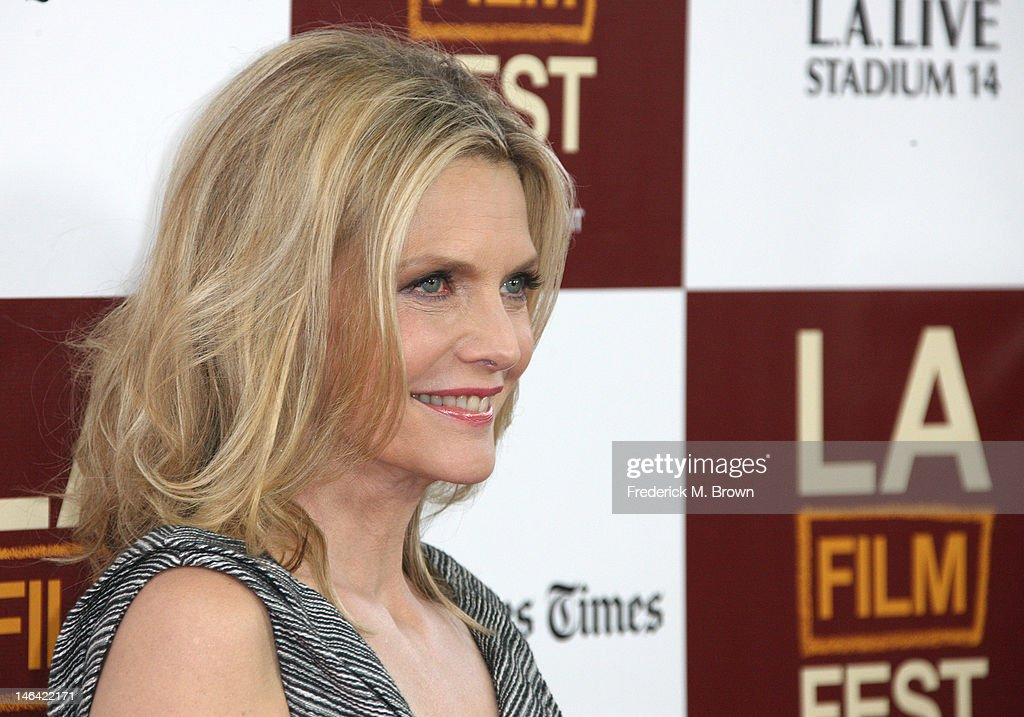 Actress <a gi-track='captionPersonalityLinkClicked' href=/galleries/search?phrase=Michelle+Pfeiffer&family=editorial&specificpeople=212951 ng-click='$event.stopPropagation()'>Michelle Pfeiffer</a> attends the Film Independent's 2012 Los Angeles Film Festival Premiere Of DreamWorks Pictures' 'People Like Us' at Regal Cinemas L.A. LIVE Stadium 14 on June 15, 2012 in Los Angeles, California.