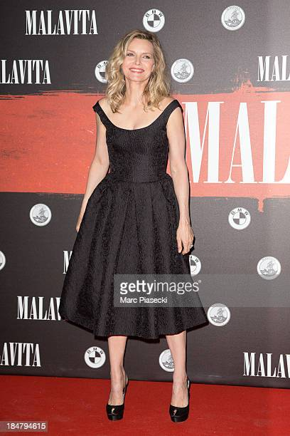 Actress Michelle Pfeiffer attends the 'Malavita' premiere on October 16 2013 in RoissyenFrance France