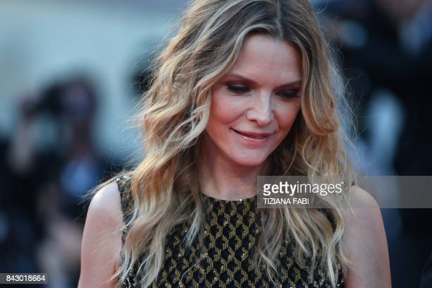 TOPSHOT US actress Michelle Pfeiffer attends the premiere of the movie 'Mother' presented in competition at the 74th Venice Film Festival on...