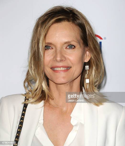 Actress Michelle Pfeiffer attends the Television Academy's 23rd Hall of Fame induction gala at Regent Beverly Wilshire Hotel on March 11 2014 in...