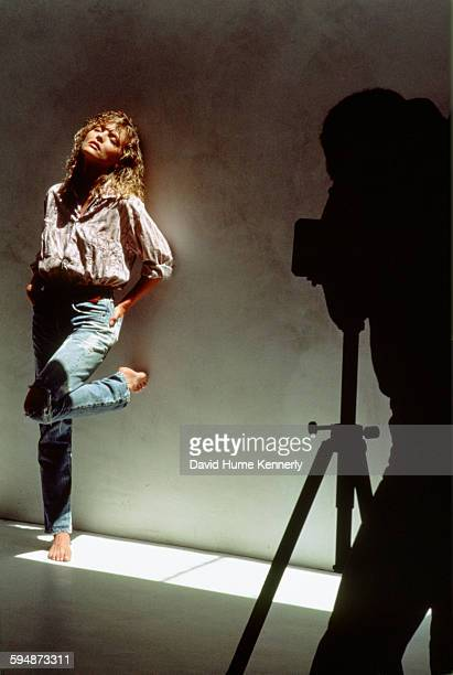 Actress Michelle Pfeiffer poses for a photo shoot with an unidentified photographer May 1986