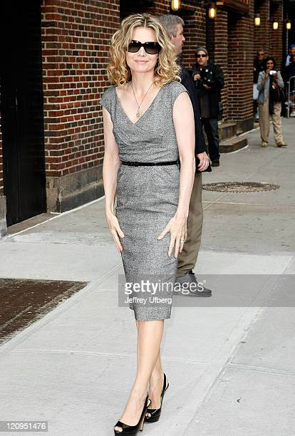 Actress Michelle Pfeiffer visits 'Late Show with David Letterman' at the Ed Sullivan Theater on June 16 2009 in New York City