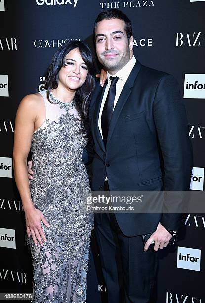 Actress Michelle Rodriguez and Mohammed Al Turki attend the 2015 Harper's BAZAAR ICONS Event at The Plaza Hotel on September 16 2015 in New York City