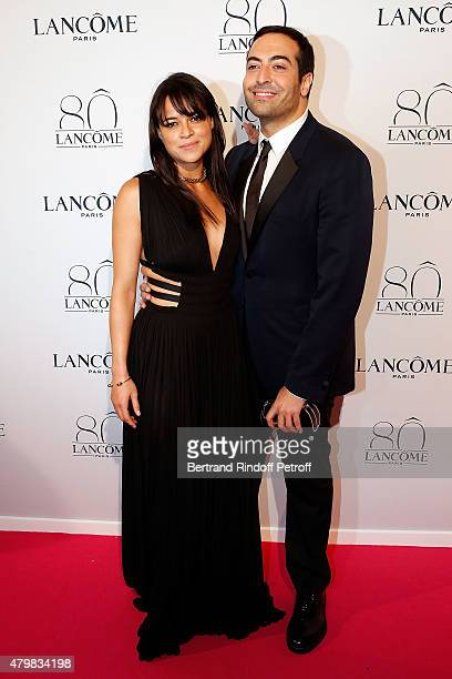 Actress Michelle Rodriguez and Mohammed Al Turki attend the Lancome 80th anniversary party as part of Paris Fashion Week Haute Couture Fall/Winter...
