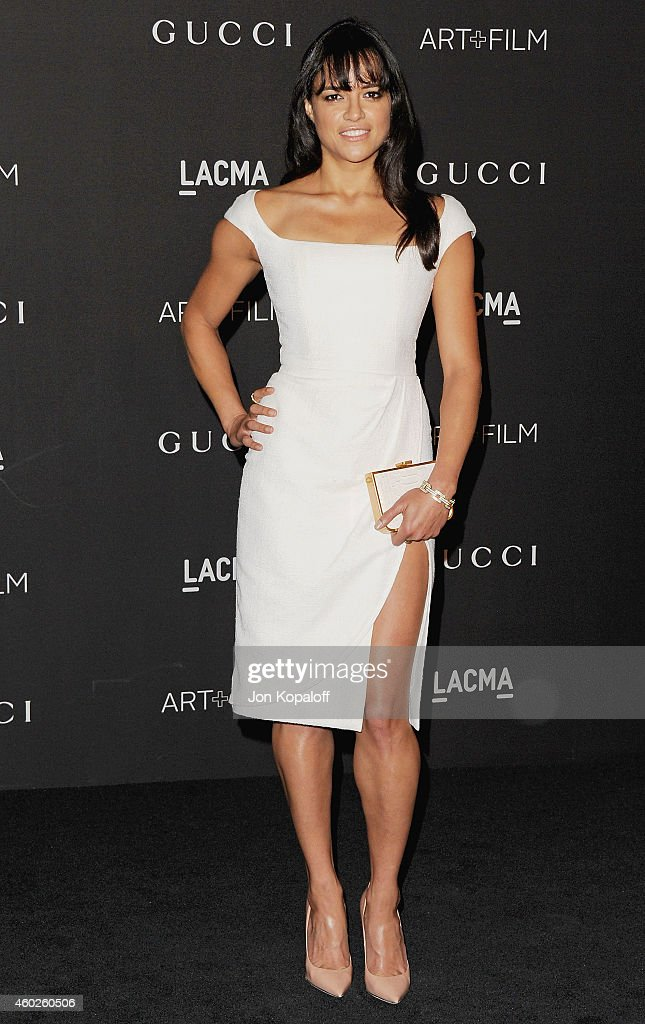 Actress Michelle Rodriguez arrives at the 2014 LACMA Art Film Gala Honoring Quentin Tarantino And Barbara Kruger at LACMA on November 1 2014 in Los...