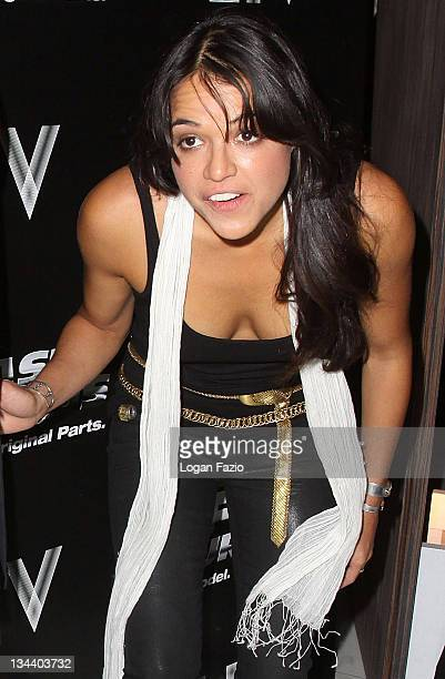 Actress Michelle Rodriguez arrives at the 'Fast Furious' release party at LIV Fontainebleau Miami Beach on March 9 2009 in Miami Beach Florida