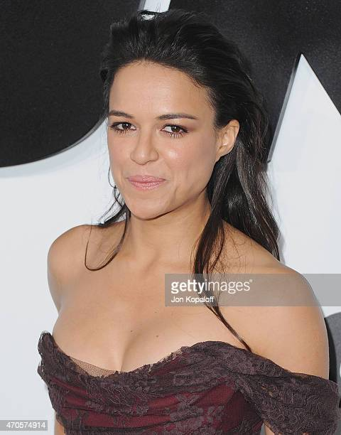 Actress Michelle Rodriguez arrives at the Los Angeles Premiere 'Furious 7' at TCL Chinese Theatre IMAX on April 1 2015 in Hollywood California