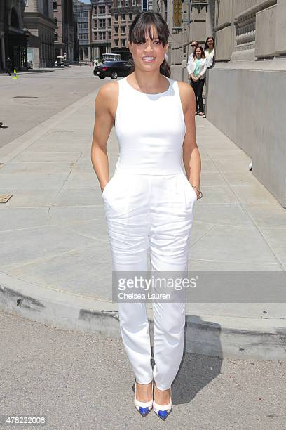 Actress Michelle Rodriguez arrives at the premiere of the 'Fast Furious Supercharged' Ride at Universal Studios Hollywood on June 23 2015 in...