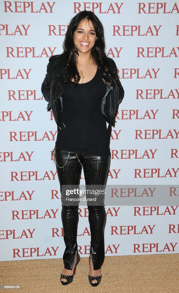 Actress Michelle Rodriguez arrives at the Replay Party during the 63rd Annual Cannes Film Festival at Style Star Lounge on May 19, 2010 in Cannes, France.