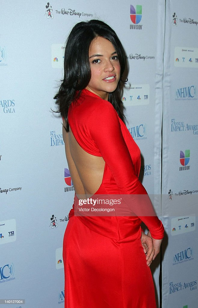 Actress <a gi-track='captionPersonalityLinkClicked' href=/galleries/search?phrase=Michelle+Rodriguez&family=editorial&specificpeople=206182 ng-click='$event.stopPropagation()'>Michelle Rodriguez</a> arrives for The National Hispanic Media Coalition's 15th Annual Impact Awards - Arrivals at the Beverly Wilshire Four Seasons Hotel on February 24, 2012 in Beverly Hills, California.