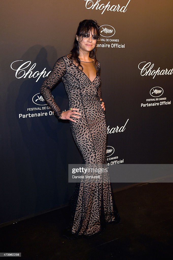 Actress Michelle Rodriguez attends a celebrity party during the 68th annual Cannes Film Festival on May 18, 2015 in Cannes, France.