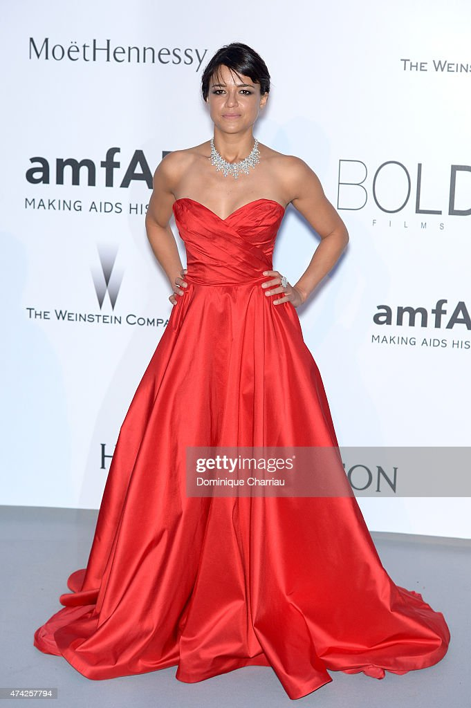 Actress <a gi-track='captionPersonalityLinkClicked' href=/galleries/search?phrase=Michelle+Rodriguez&family=editorial&specificpeople=206182 ng-click='$event.stopPropagation()'>Michelle Rodriguez</a> attends amfAR's 22nd Cinema Against AIDS Gala, Presented By Bold Films And Harry Winston at Hotel du Cap-Eden-Roc on May 21, 2015 in Cap d'Antibes, France.