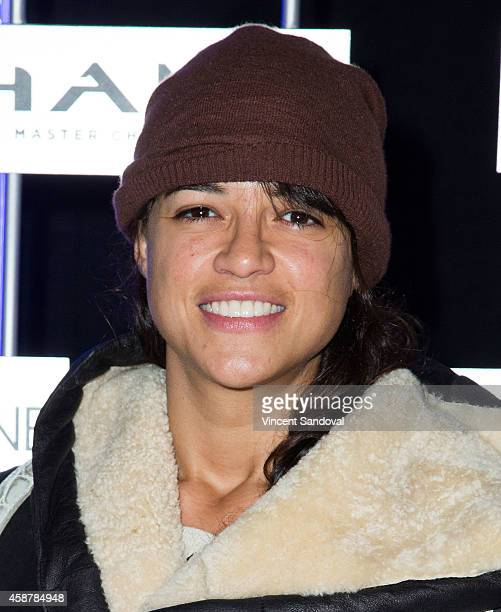 Actress Michelle Rodriguez attends HaloFest Halo The Master Chief Collection launch at Avalon on November 10 2014 in Hollywood California