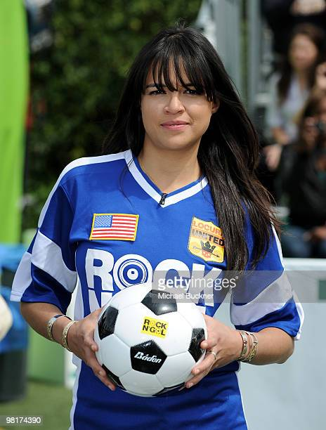 Actress Michelle Rodriguez attends MTV Tr3s's 'Rock N' Gol' World Cup KickOff at the Home Depot Center on March 31 2010 in Carson California
