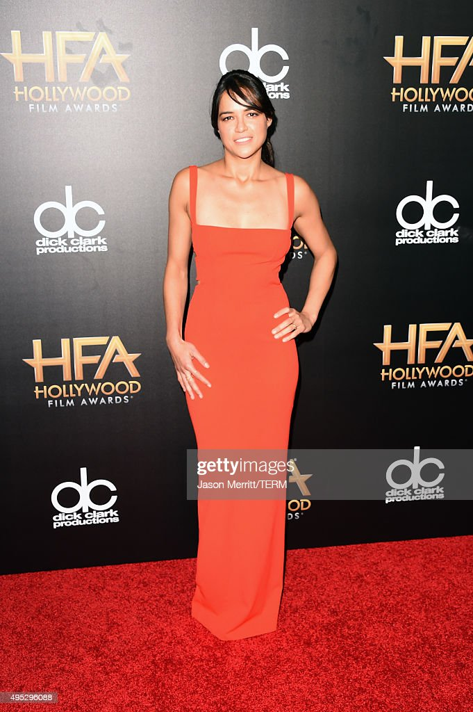 Actress <a gi-track='captionPersonalityLinkClicked' href=/galleries/search?phrase=Michelle+Rodriguez&family=editorial&specificpeople=206182 ng-click='$event.stopPropagation()'>Michelle Rodriguez</a> attends the 19th Annual Hollywood Film Awards at The Beverly Hilton Hotel on November 1, 2015 in Beverly Hills, California.