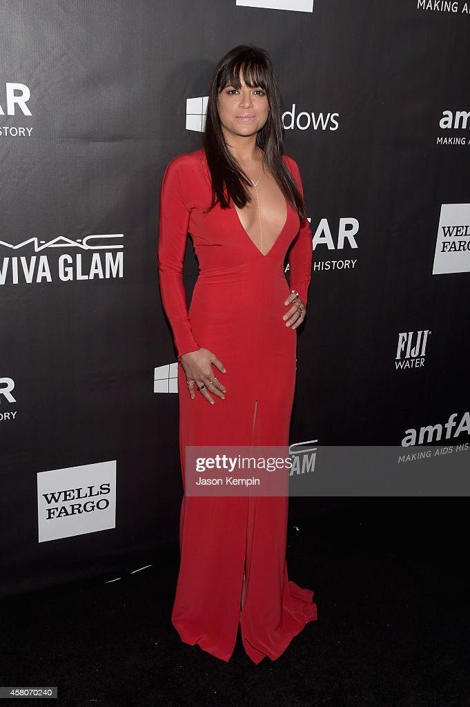 Actress Michelle Rodriguez attends the 2014 amfAR LA Inspiration Gala at Milk Studios on October 29 2014 in Hollywood California