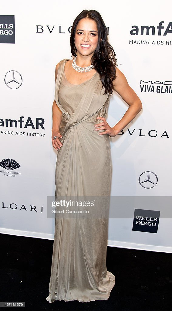 Actress <a gi-track='captionPersonalityLinkClicked' href=/galleries/search?phrase=Michelle+Rodriguez&family=editorial&specificpeople=206182 ng-click='$event.stopPropagation()'>Michelle Rodriguez</a> attends the 2014 amfAR New York Gala at Cipriani Wall Street on February 5, 2014 in New York City.