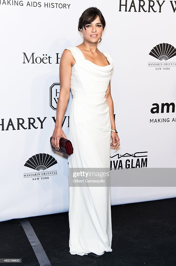Actress <a gi-track='captionPersonalityLinkClicked' href=/galleries/search?phrase=Michelle+Rodriguez&family=editorial&specificpeople=206182 ng-click='$event.stopPropagation()'>Michelle Rodriguez</a> attends the 2015 amfAR New York Gala at Cipriani Wall Street on February 11, 2015 in New York City.