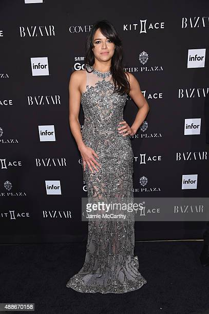 Actress Michelle Rodriguez attends the 2015 Harper's BAZAAR ICONS Event at The Plaza Hotel on September 16 2015 in New York City