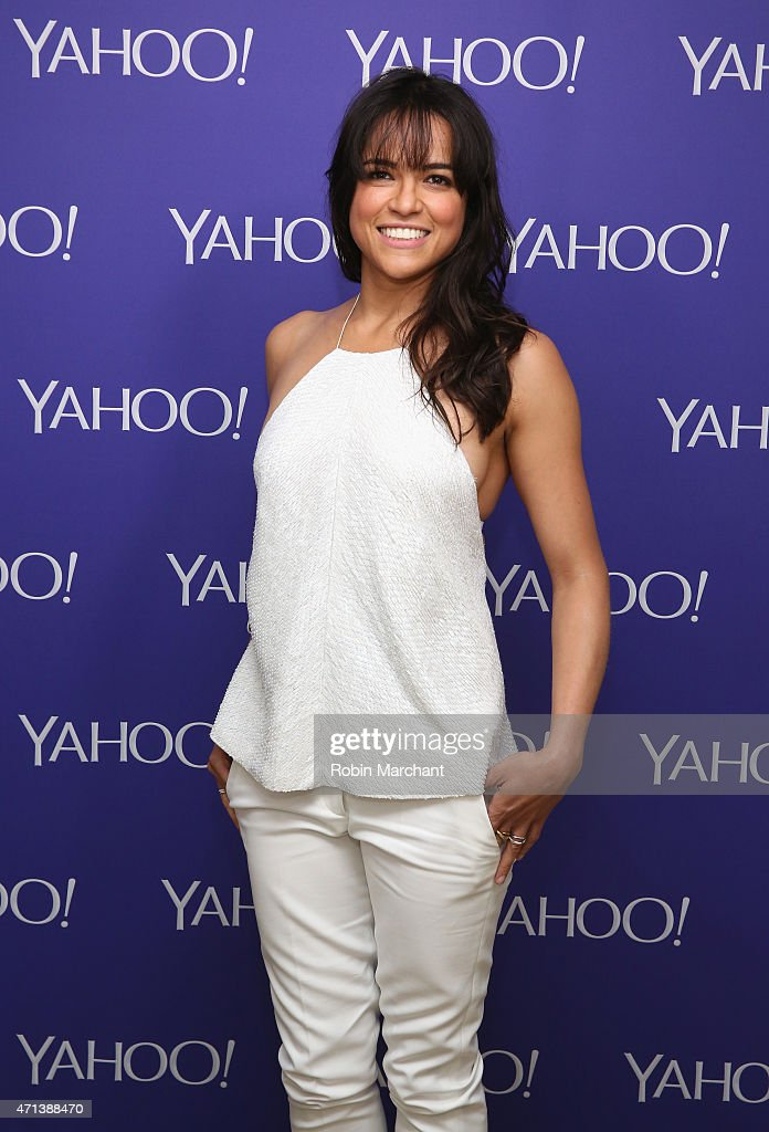 Actress <a gi-track='captionPersonalityLinkClicked' href=/galleries/search?phrase=Michelle+Rodriguez&family=editorial&specificpeople=206182 ng-click='$event.stopPropagation()'>Michelle Rodriguez</a> attends the 2015 Yahoo Digital Content NewFronts at Avery Fisher Hall on April 27, 2015 in New York City.