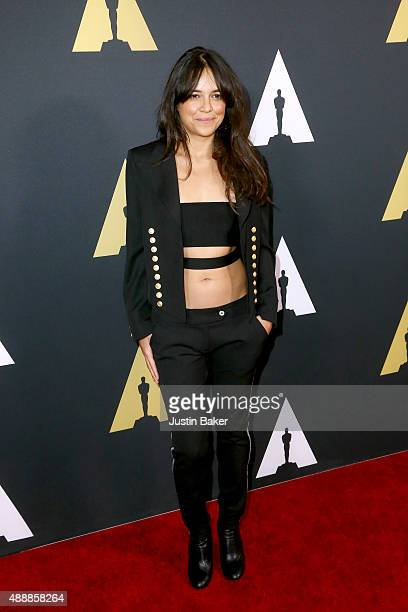 Actress Michelle Rodriguez attends the Academy of Motion Picture Arts and Sciences' 42nd Student Academy Awards on September 17 2015 in Beverly Hills...