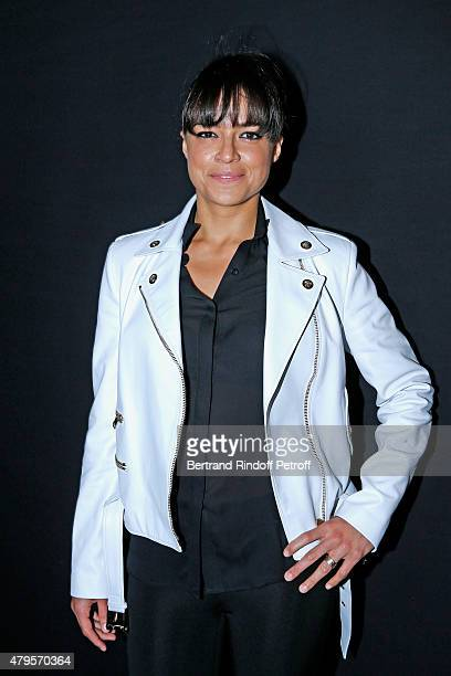 Actress Michelle Rodriguez attends the Atelier Versace show as part of Paris Fashion Week Haute Couture Fall/Winter 2015/2016 on July 5 2015 in Paris...
