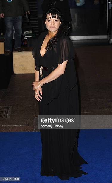 Actress Michelle Rodriguez attends the 'Avatar' Premiere at the Odeon Cinema Leicester Square on December 10 2009 in London