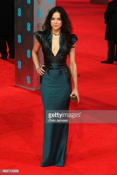 Actress Michelle Rodriguez attends the EE British Academy Film Awards 2014 at The Royal Opera House on February 16 2014 in London England