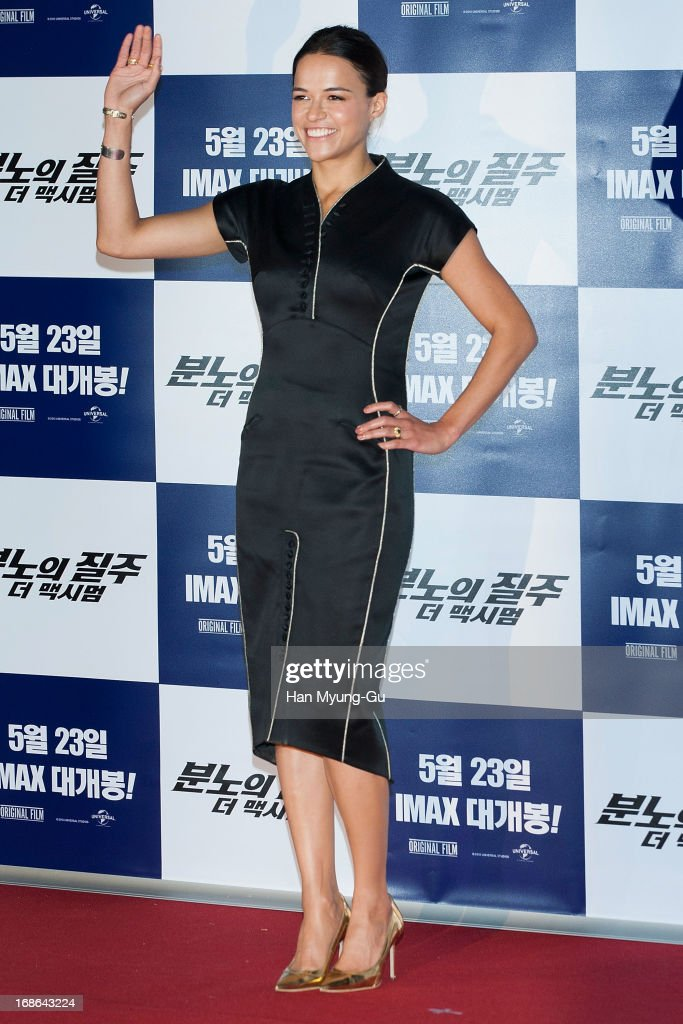 Actress Michelle Rodriguez attends the 'Fast & Furious 6' press conference on May 13, 2013 in Seoul, South Korea.