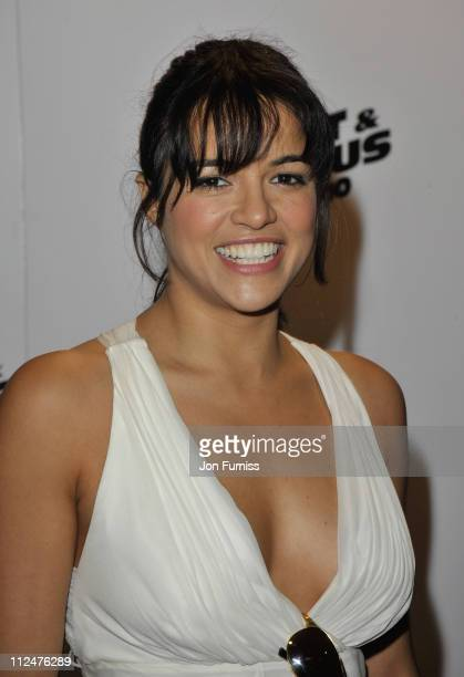 Actress Michelle Rodriguez attends the 'Fast Furious' UK premiere at the Vue West End cinema on March 19 2009 in London England