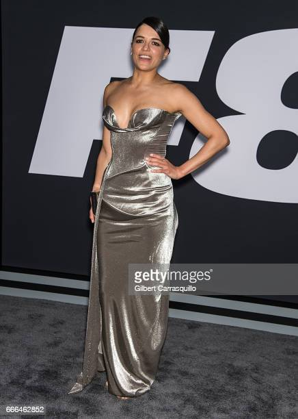 Actress Michelle Rodriguez attends 'The Fate Of The Furious' New York Premiere at Radio City Music Hall on April 8 2017 in New York City