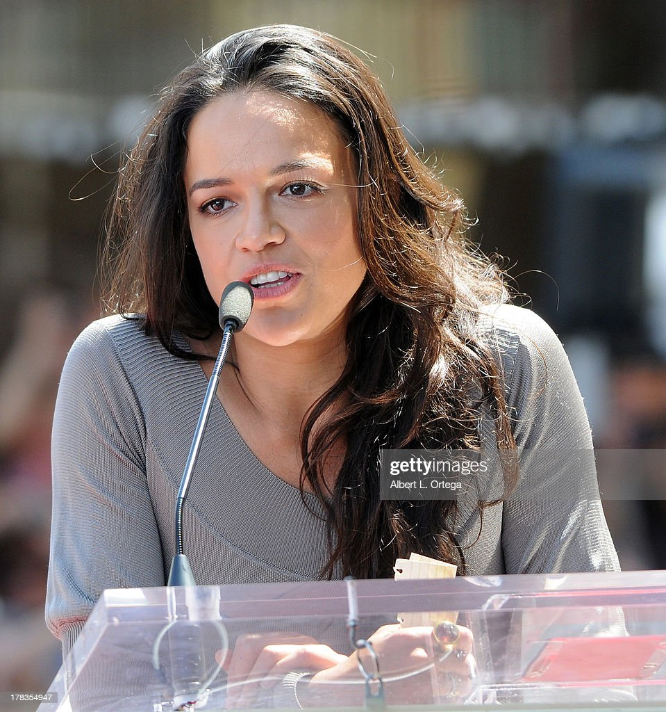 Actress Michelle Rodriguez attends the Star Ceremony for Vin Diesel on the Hollywood Walk Of Fame held on August 26, 2013 in Hollywood, California.
