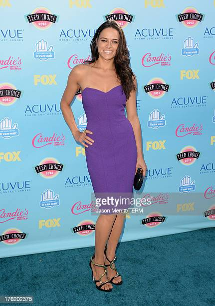 Actress Michelle Rodriguez attends the Teen Choice Awards 2013 at Gibson Amphitheatre on August 11 2013 in Universal City California