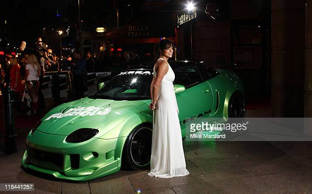 Actress Michelle Rodriguez attends the UK Premiere of 'Fast Furious' at the Vue West End on March 18 2009 in London England