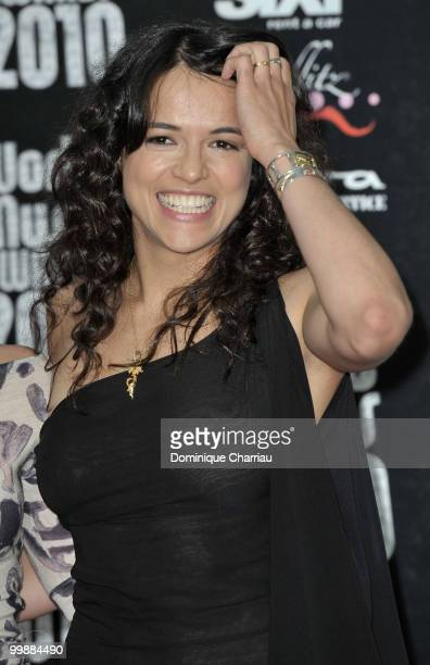 Actress Michelle Rodriguez attends the World Music Awards 2010 at the Sporting Club on May 18 2010 in Monte Carlo Monaco