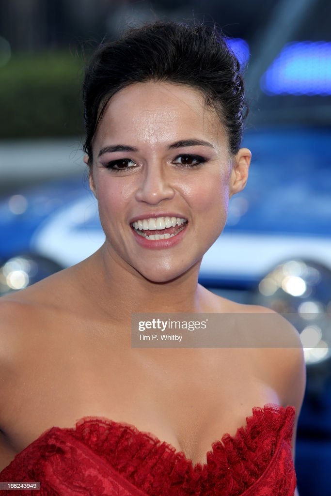 Actress Michelle Rodriguez attends the World Premiere of 'Fast & Furious 6' at Empire Leicester Square on May 7, 2013 in London, England.