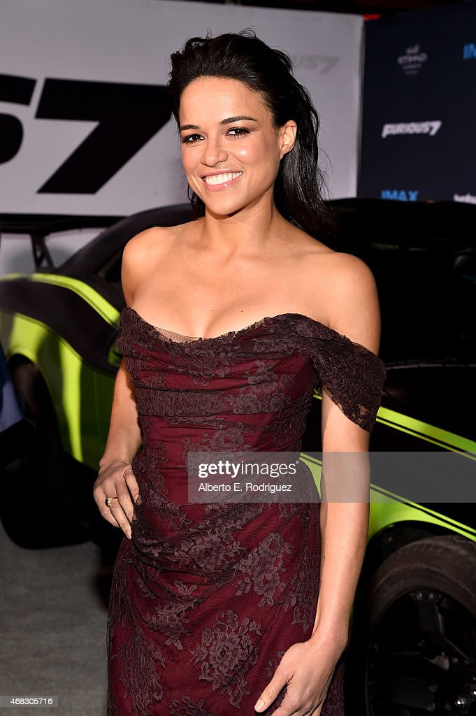 Actress Michelle Rodriguez attends Universal Pictures' 'Furious 7' premiere at TCL Chinese Theatre on April 1 2015 in Hollywood California