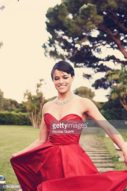 Actress Michelle Rodriguez is photographed for Self Assignment on May 15 2015 in Cannes France