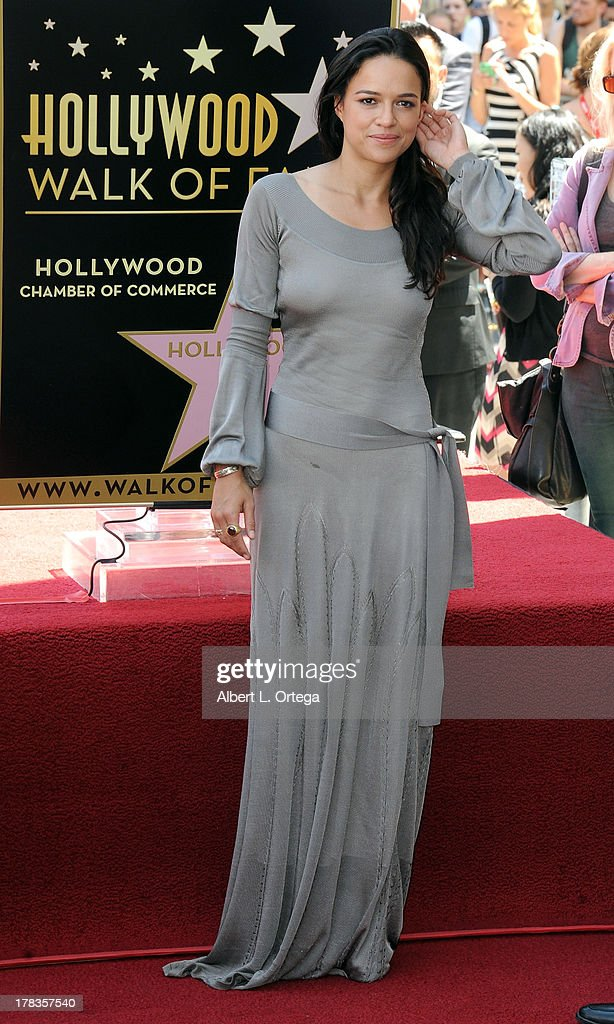 Actress Michelle Rodriguez participates in the Star Ceremony for Vin Diesel on the Hollywood Walk Of Fame held on August 26, 2013 in Hollywood, California.