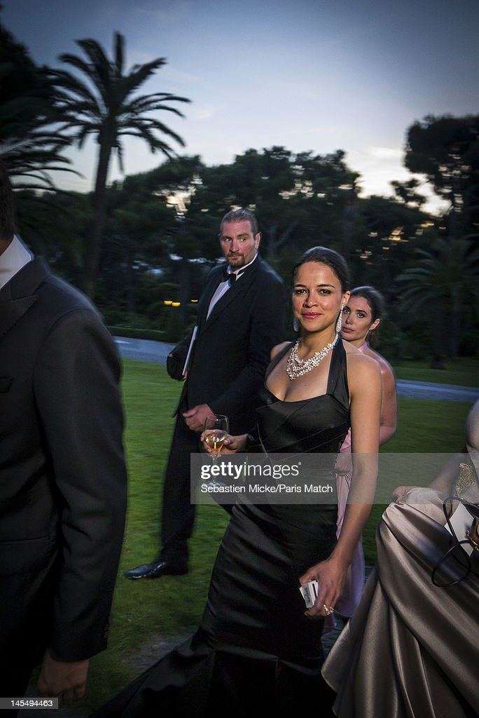 Actress Michelle Rodriguez photographed at the amfAR Cinema Against AIDS gala, for Paris Match on May 24, 2012, in Cap d'Antibes, France.