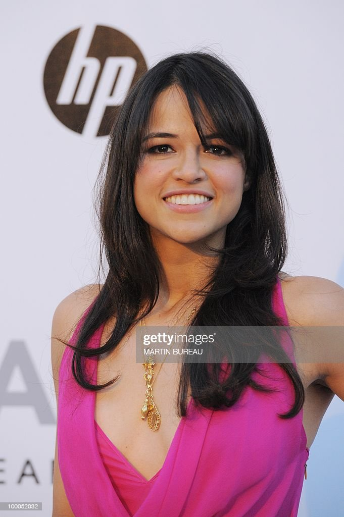 US actress Michelle Rodriguez poses whil